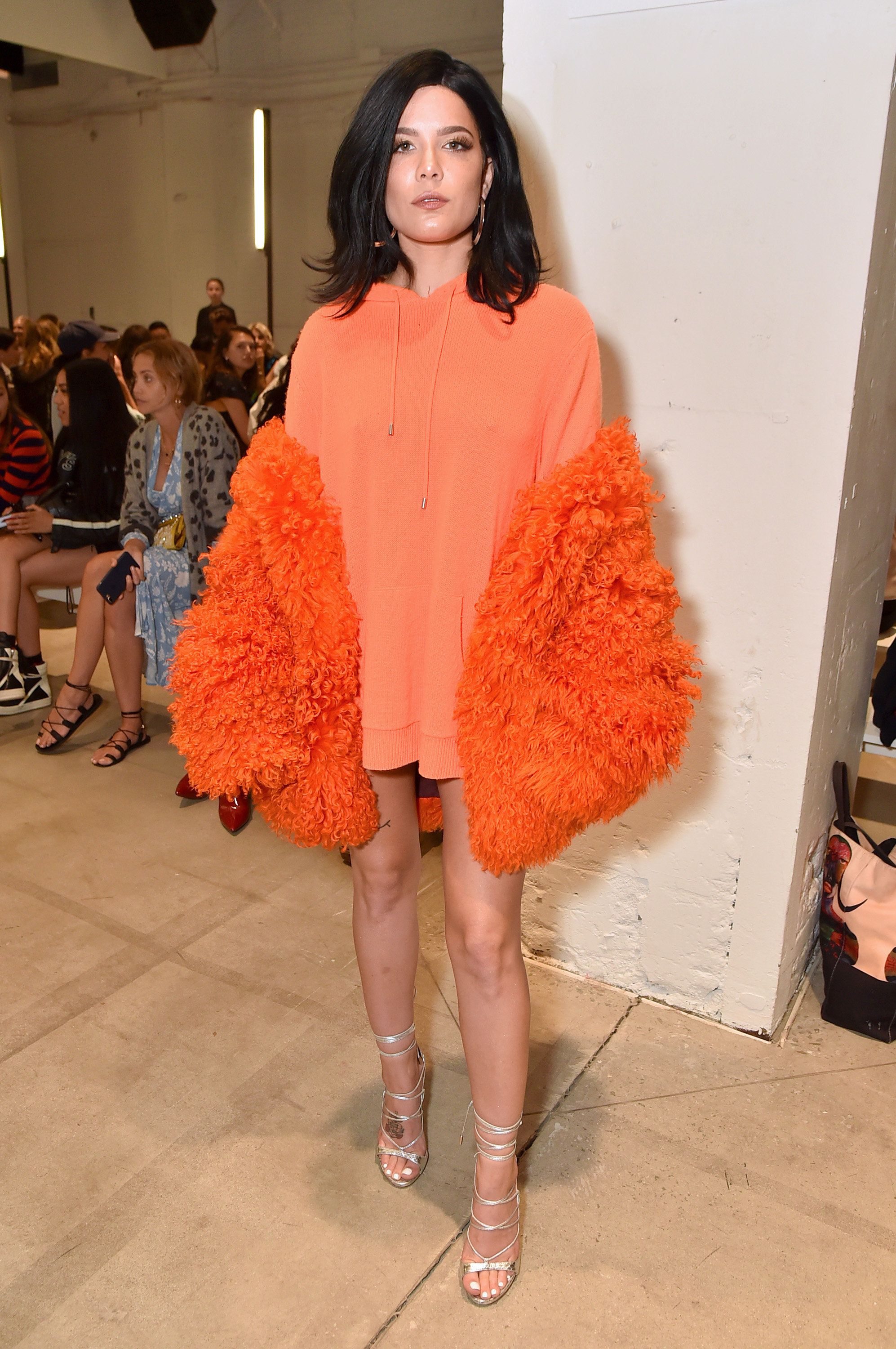 At the Dion Lee show during New York Fashion Week on Sept. 9 in New York City.