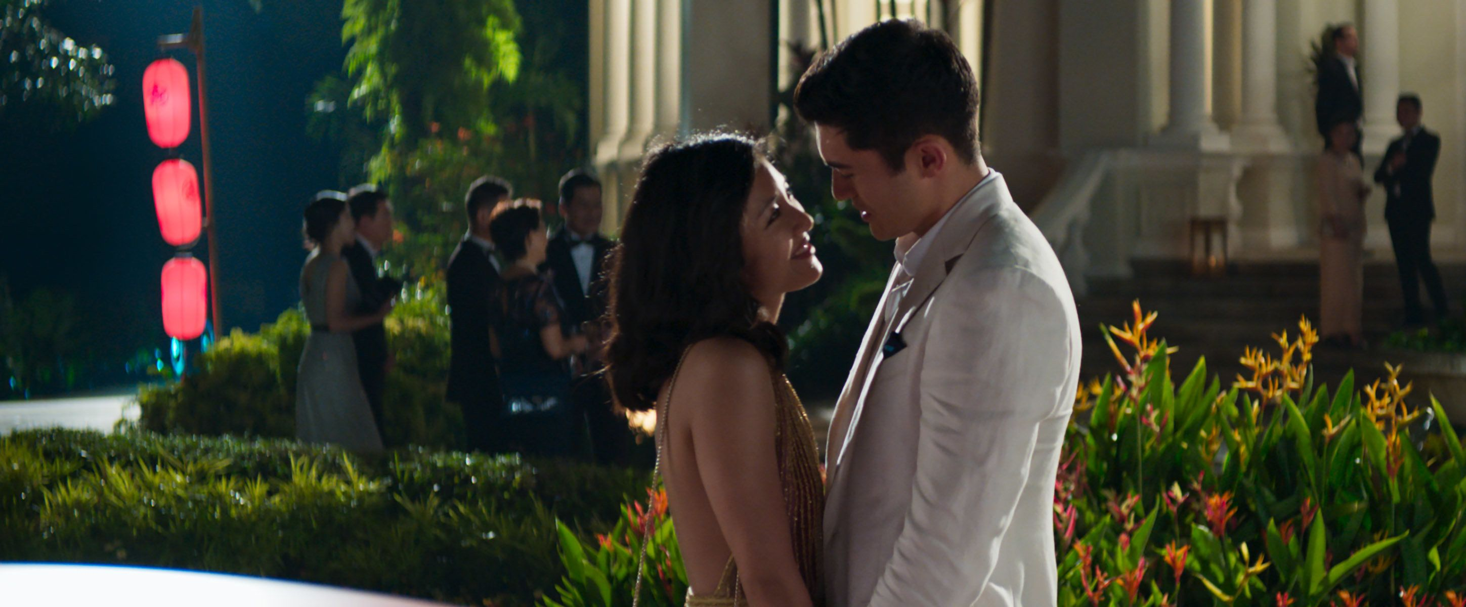 "Wu and Golding in ""Crazy Rich Asians."""