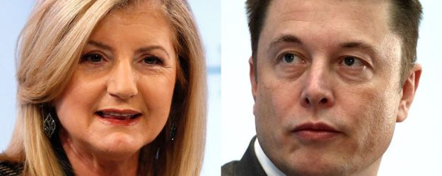 Arianna Huffington (left), theco-founder of the HuffPost, is urging Elon Musk (right) to prioritize sleep in his life.