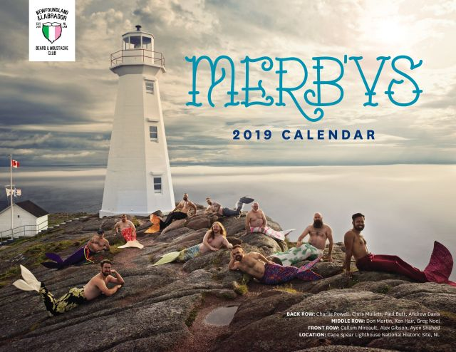 Proceeds from the Newfoundland and Labrador Beard and Moustache Club's 2019 MerB'ys calendar will go to Viol