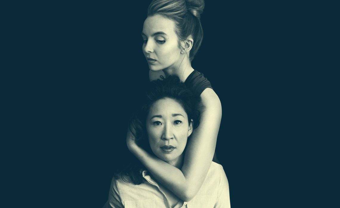 MI5 officer Eve Polastri is played by 'Grey's Anatomy' star Sandra Oh (front) who is assigned to track down assassin Villanelle, played by Jodie Comer.