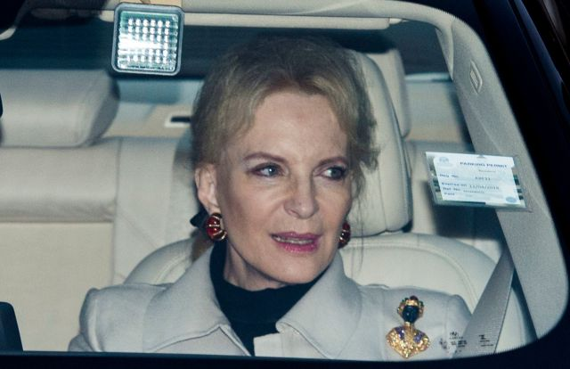 Princess Michael of Kent attends a Christmas lunch for the extended royal family at Buckingham Palace on Dec. 20, 2017, in Lo