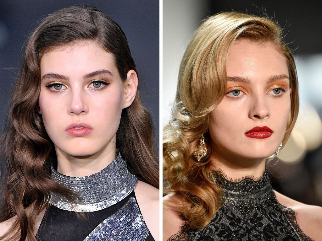 The glamour waves made popular by Old Hollywood starlets showed up on the runways at Temperley London and Tadashi Shoji. It's