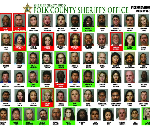 78 Arrests In 4 Day Prostitution Sting By Polk County Sheriffs Deputies In Florida Photos