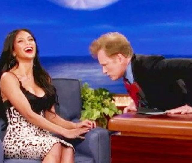 Former Pussycat Doll Nicole Scherzinger Came On Conan On Monday Night Probably To Promote Some Tv Show Or Album Or Movie Or Something Or Other