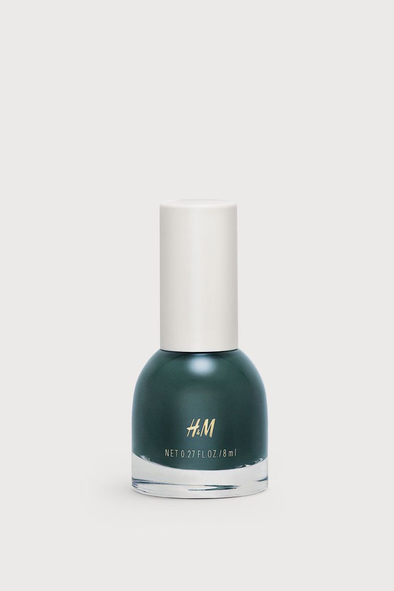 H&M does nail varnish, who knew? We love this deep green, especially when paired with the colour of the season: brown.Witching Hour,H&M, £3.99