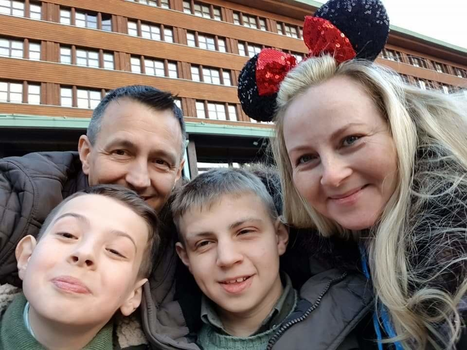 Bailey Williams with his family