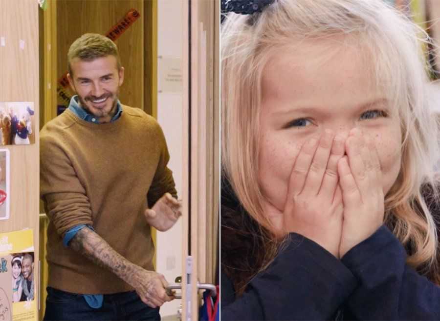 Watch The Adorable Moment David Beckham Surprises Pride Of Britain Winner Ella Chadwick