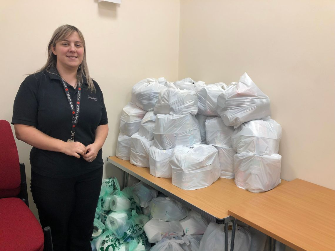 Claire Bowerman, community centre co-ordinator, has seen a huge increase in demand for food parcels