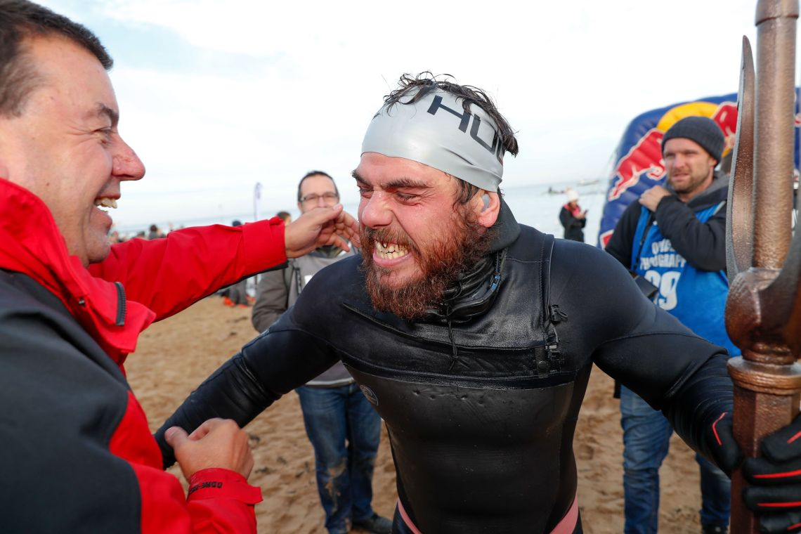 The epic feat undertaken by Ross Edgley took 157 days and involved swimming 1,791 miles.