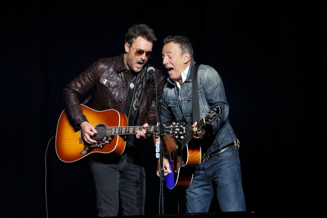 Eric Church and Bruce Springsteen performed together at the event.