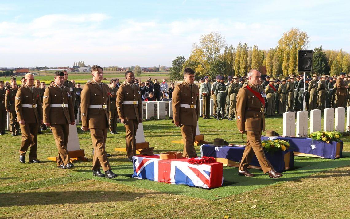 An unknown soldier who was thought to have been killed in the battle of Passchendaele 101 years ago was buried in Ypres earlier this week