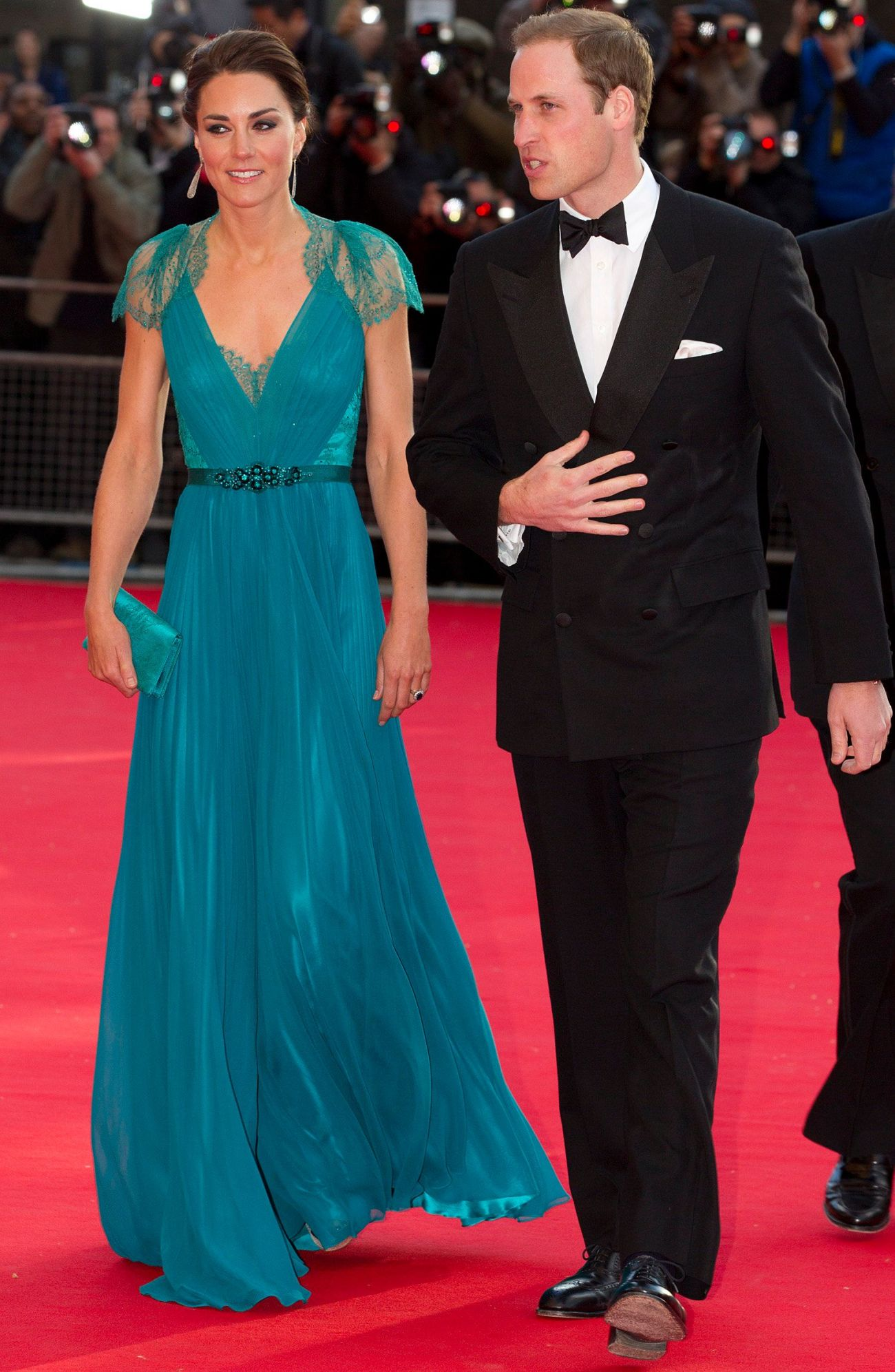 Kate and William arrive at the Royal Albert Hall for a British Olympic Team gala event in London on May 11, 2012.