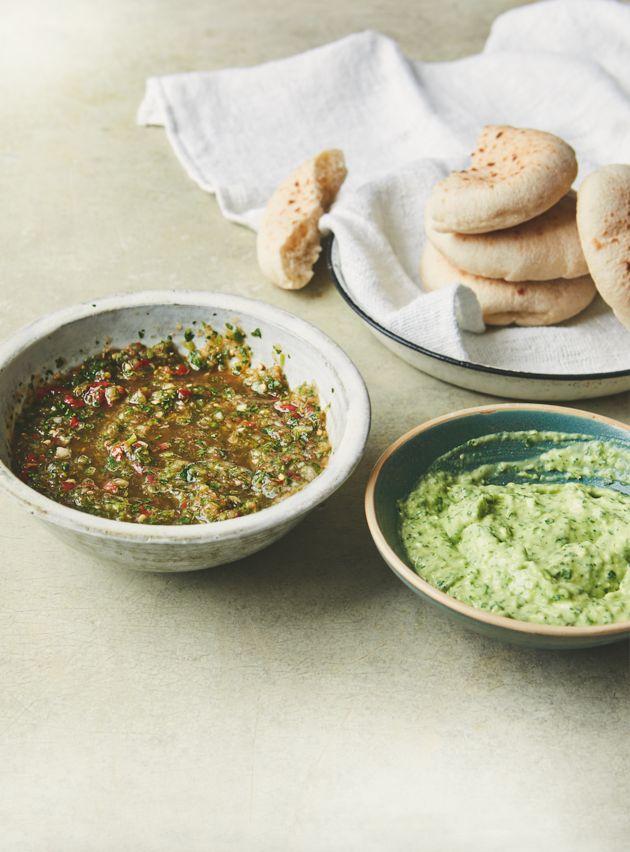 Green chilli dip .