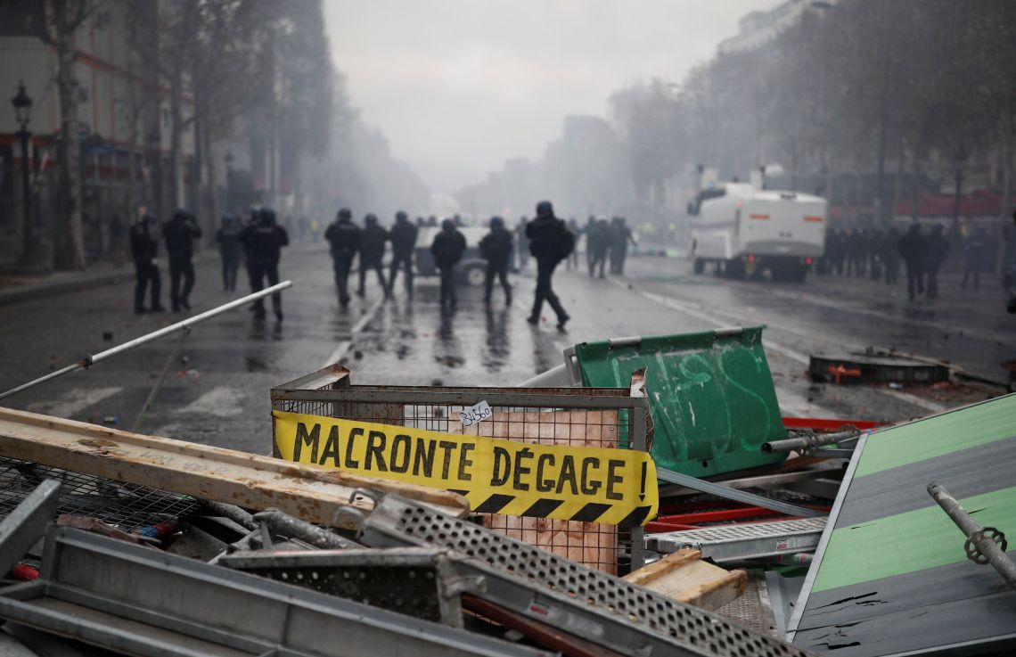 Macron is suffering in the polls and the focus of rage for the demonstrators