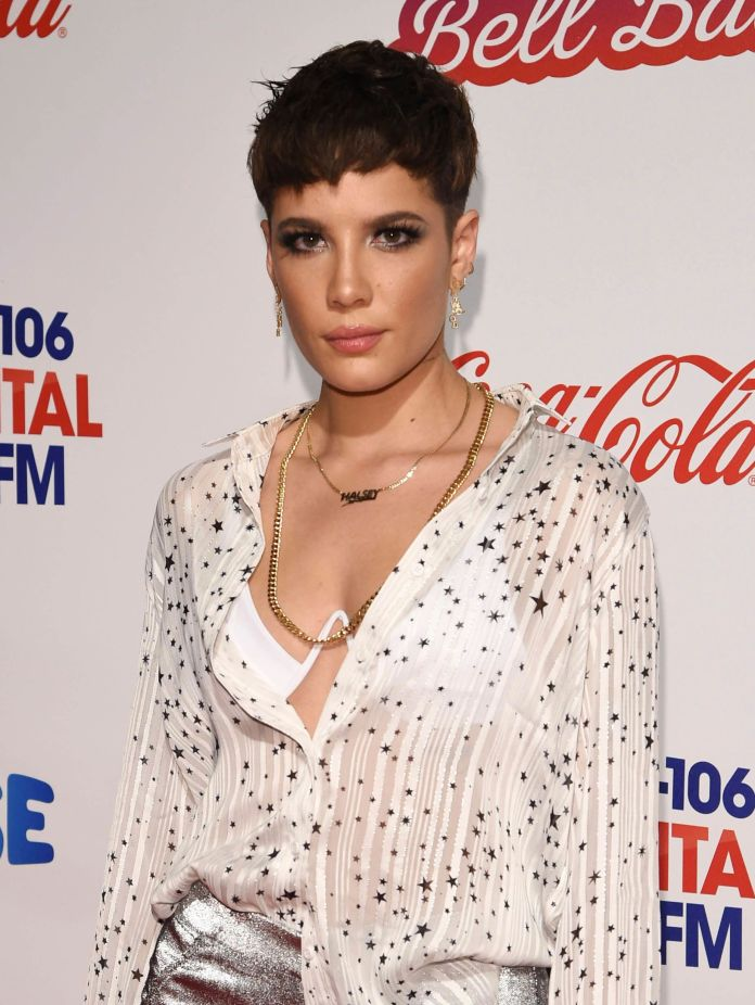 Halsey pictured in London in December 2018