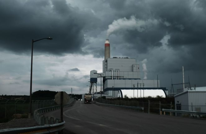 The Longview Power Plant, a coal-fired plant, stands on August 21 in Maidsville, West Virginia.