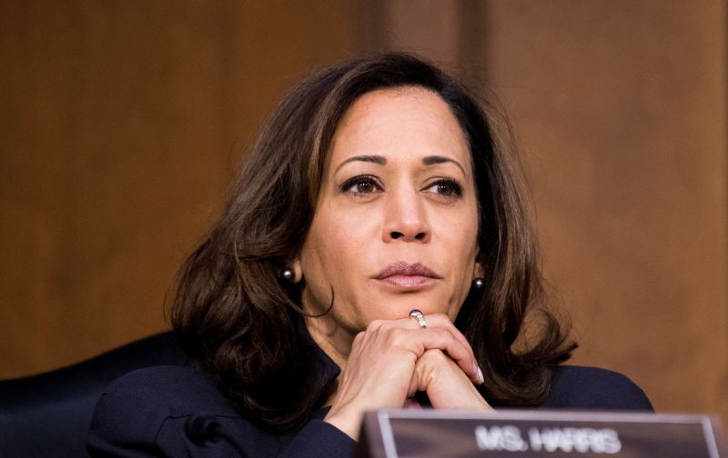 Sen. Kamala Harris (D-Calif.) listens during a Senate Judiciary Committee hearing on homeland security on Jan. 16, 2018.