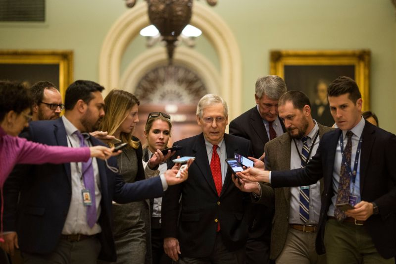 Democrats are pressuringSenate Majority Leader Mitch McConnell (R-Ky.) to bring up bills to reopen the government.