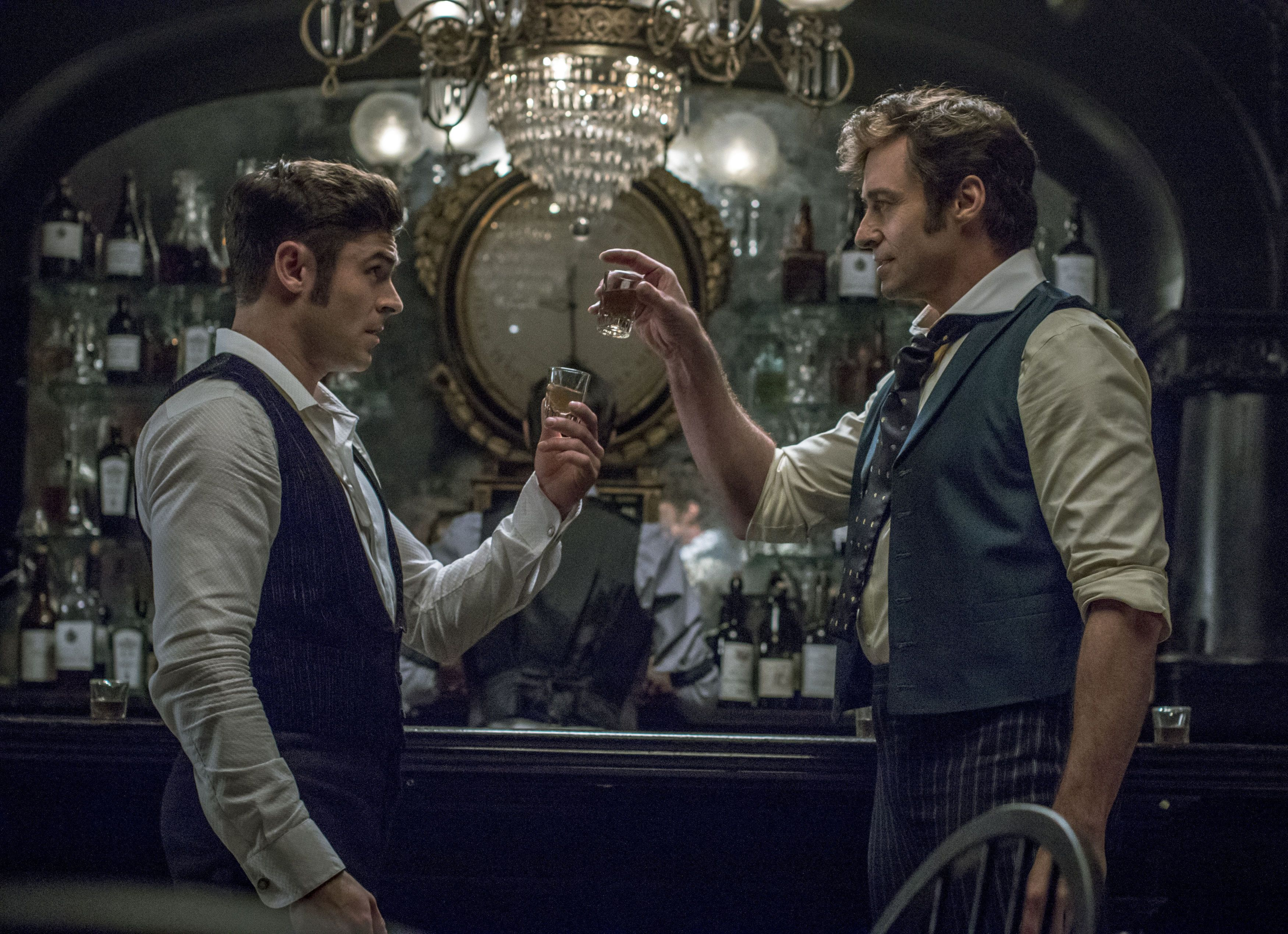 Zac Efron and Hugh Jackman in 'The Greatest Showman'
