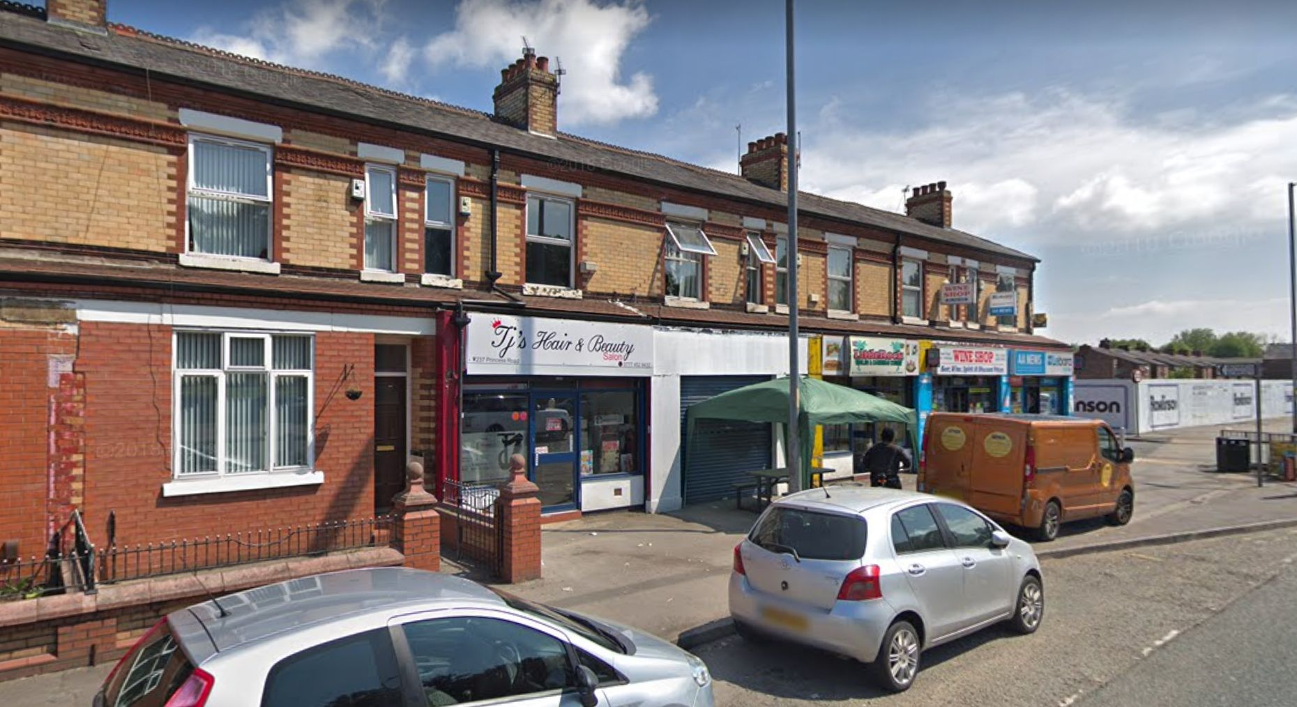 The incident took place at a cafe off Princess Road in Manchester's Moss Side.