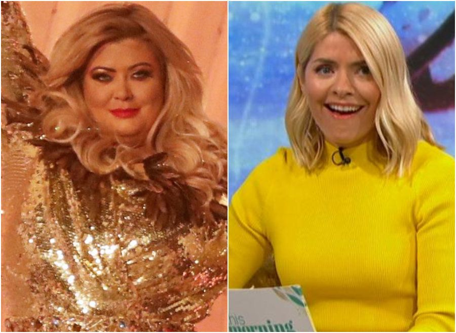 Gemma Collins and Holly Willoughby