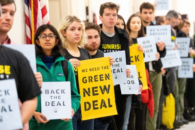 The Green New Deal proposes that by 2030, the U.S. shift from fossil fuels to renewable sources and create millions of j