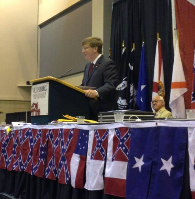 Mississippi Lt. Gov. Tate Reeves (R) spoke at a Sons of Confederate Veterans event in 2013.