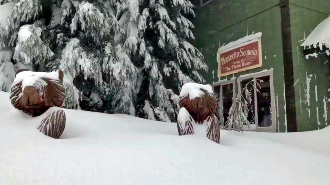 Heavy snows have been seen across the state