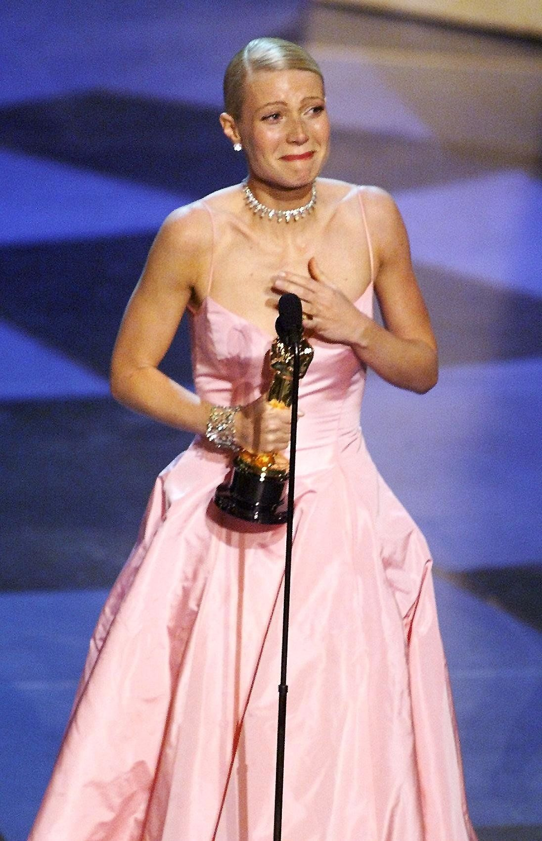 After appearing in around 20 films, Gwyneth finally picked up an Oscar in 1999, for her performance in Shakespeare In Love, and struggled to get her words out through her tears.This would prove to be Gwyneth's only Academy Award nomination (so far, at least!), but at least she managed to get the Oscar on her first try.