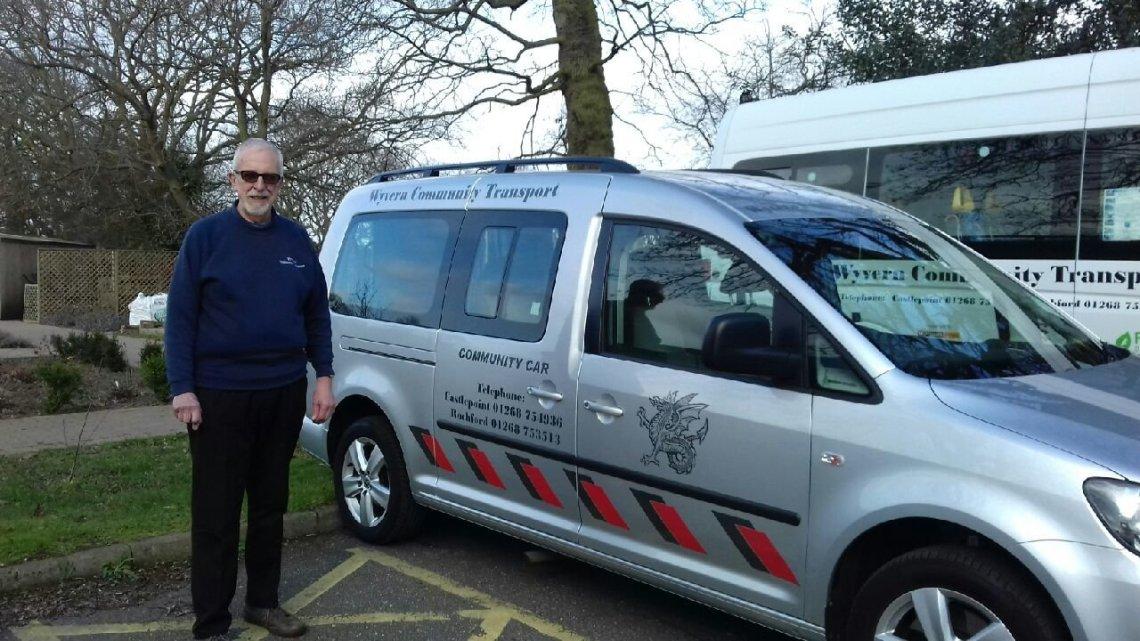 Alan Burgess, a volunteer for Wyvern Community Transport.