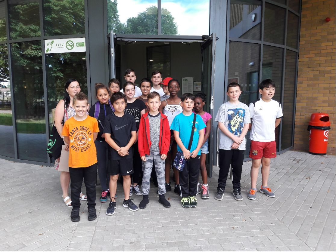 Toprak with a group of young people at the climbing walls at Eltham, London.