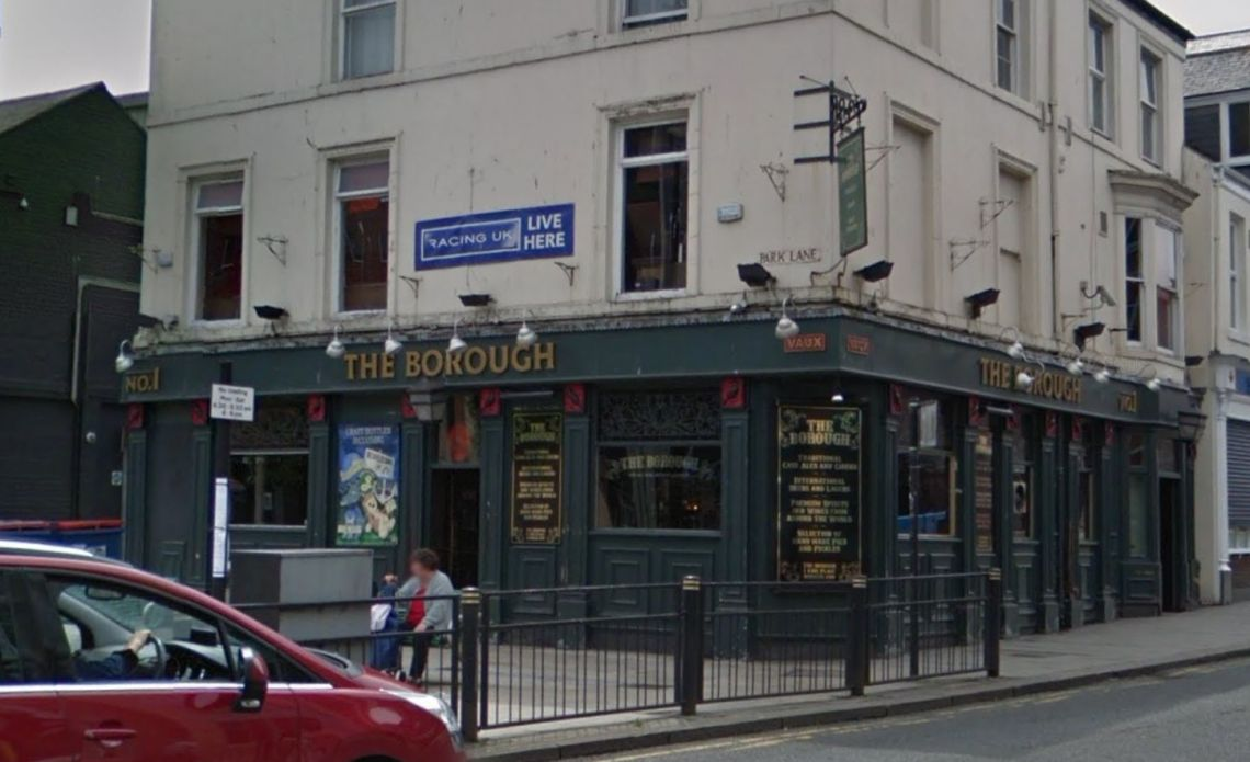The incident happened near The Borough pub in central Sunderland on Sunday morning.