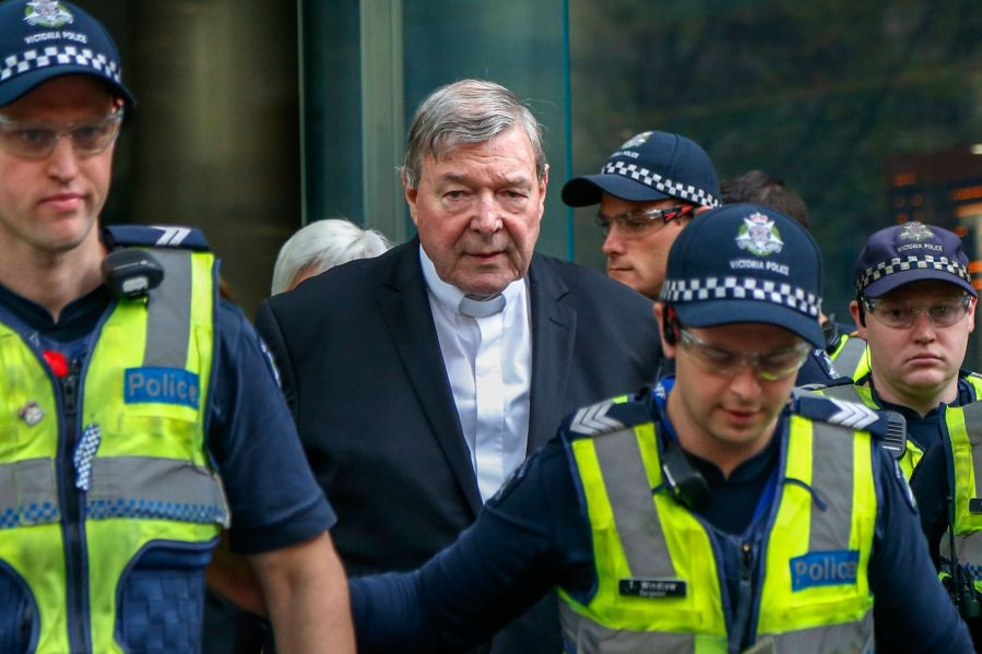 Cardinal George Pell of Australia was found guilty in December of five counts of historical sexual offenses.