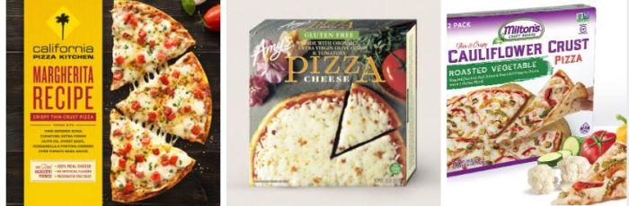 Kristi Coughlin's top three picks: California Pizza Kitchen, Amy's and