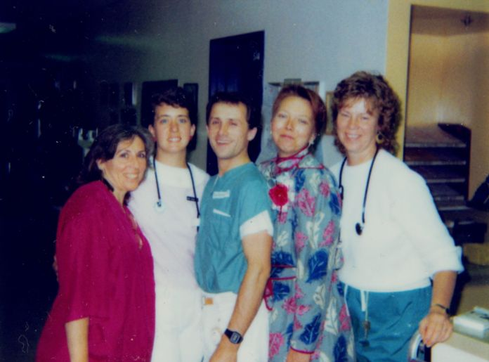 "A group of nurses featured in the documentary ""5B."""