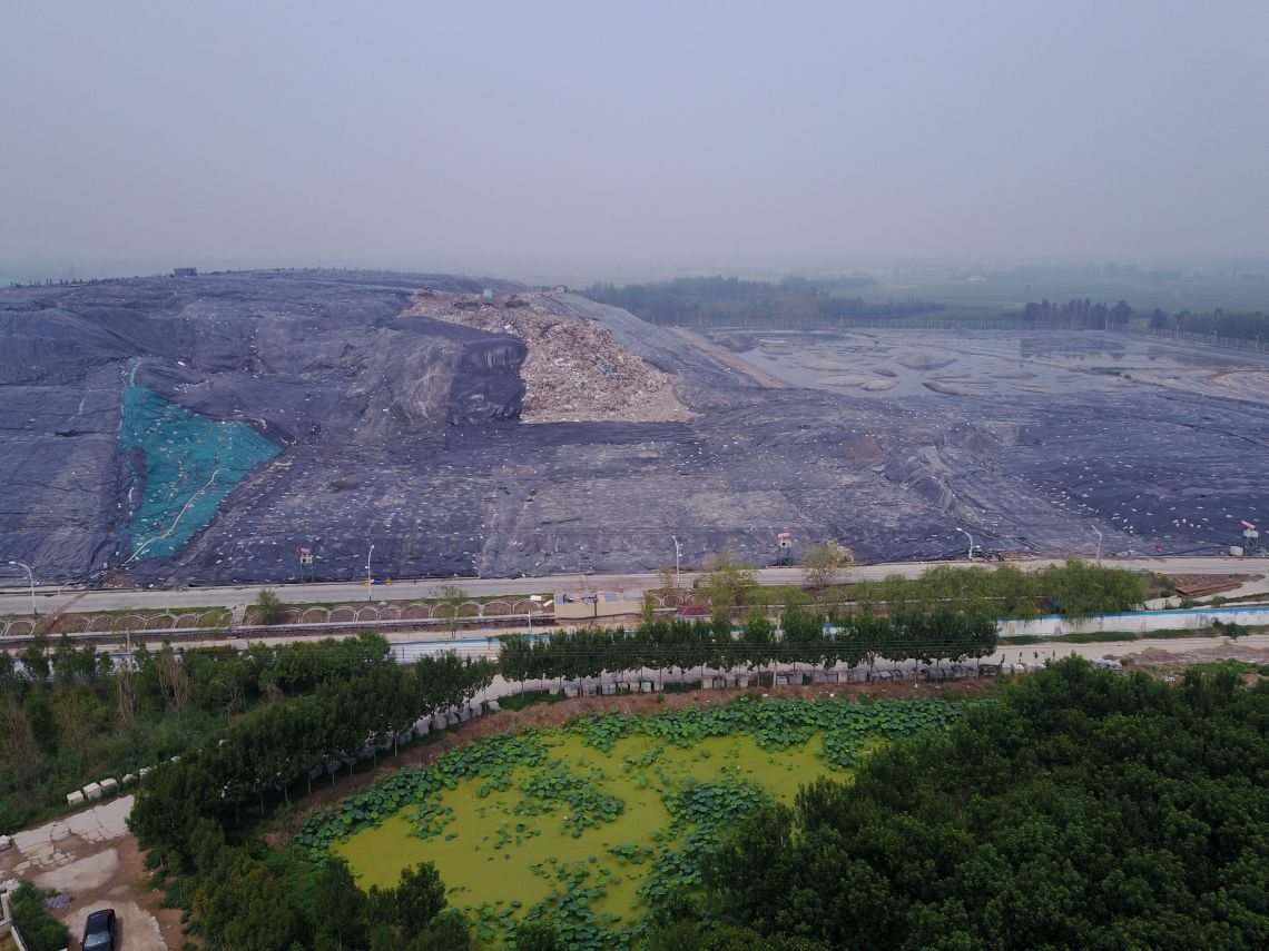 A garbage dump near the Yellow River outside the city of Jinan, several hundred miles away from