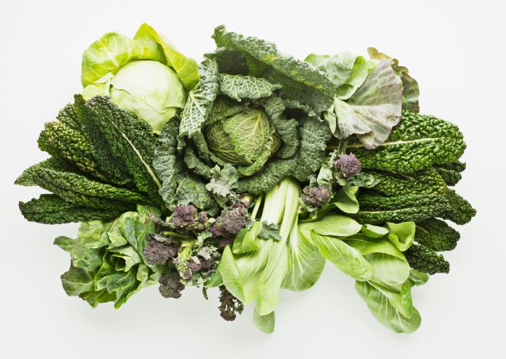 Vegetables in thecruciferae family include broccoli, cauliflower, kale, cabbage,watercress, radishes, mustard greens and wild arugula.