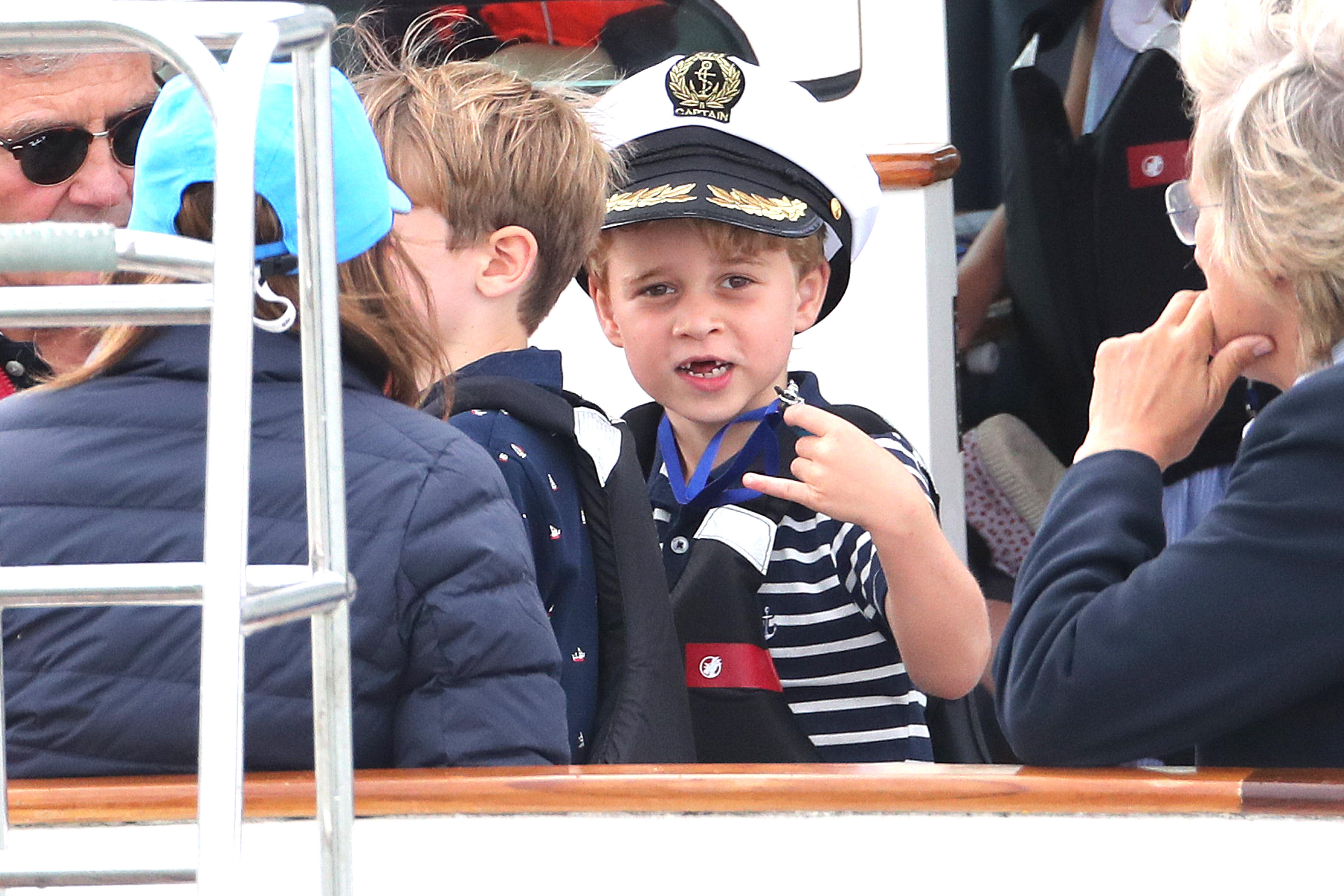 Prince George also had fun.