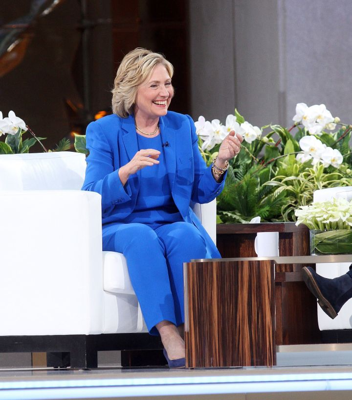 "Clinton during an appearance on ""The Ellen DeGeneres Show"" on Sept. 8, 2015."