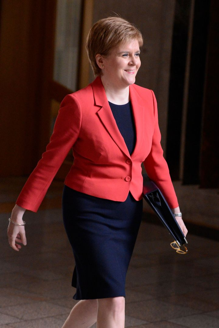 Sturgeon headed for another of Parliament's question sessions on May 31, 2018.
