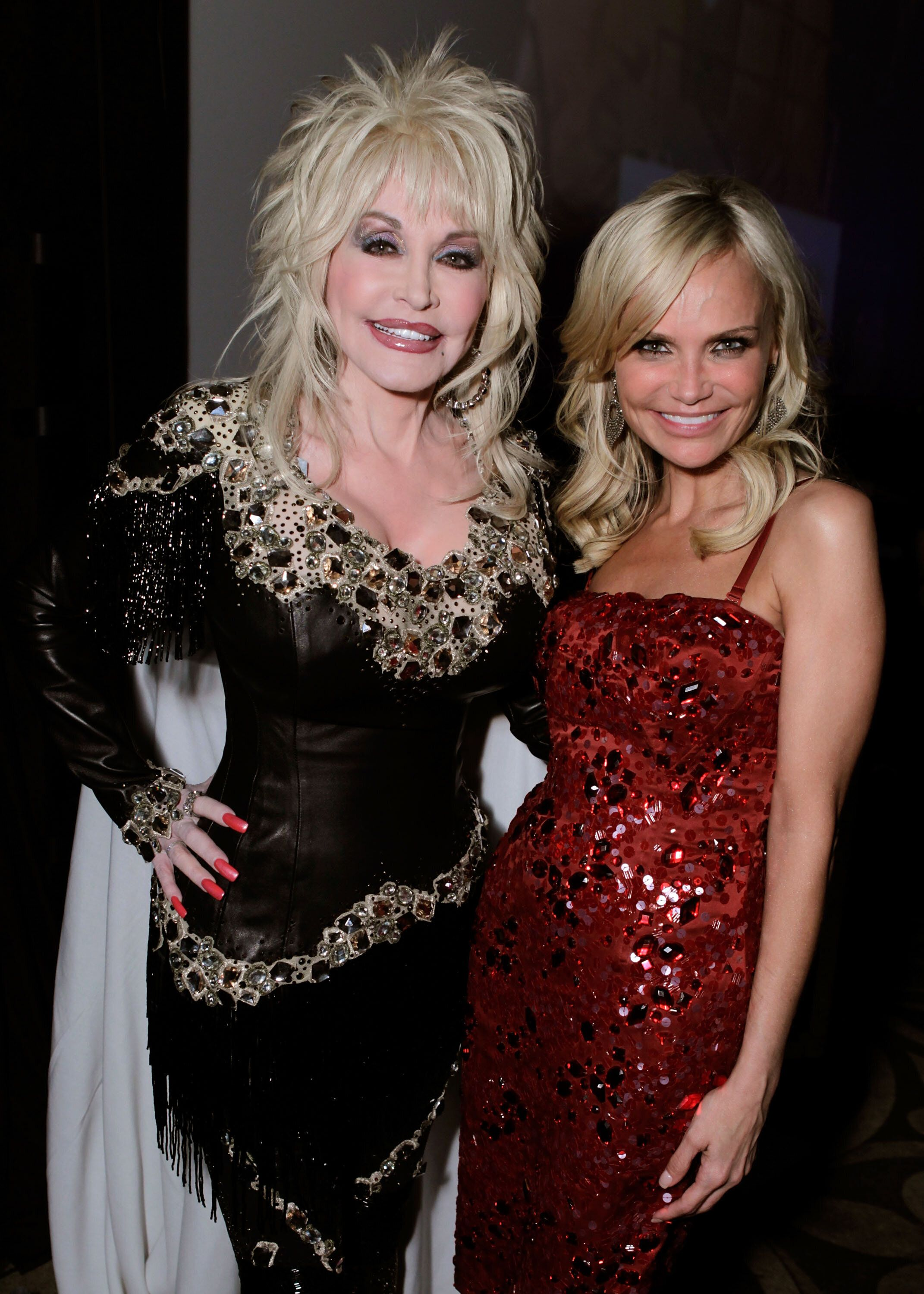 """Chenoweth (right) also teamed up with Dolly Parton for a duet version of""""I Will Always Love You."""""""