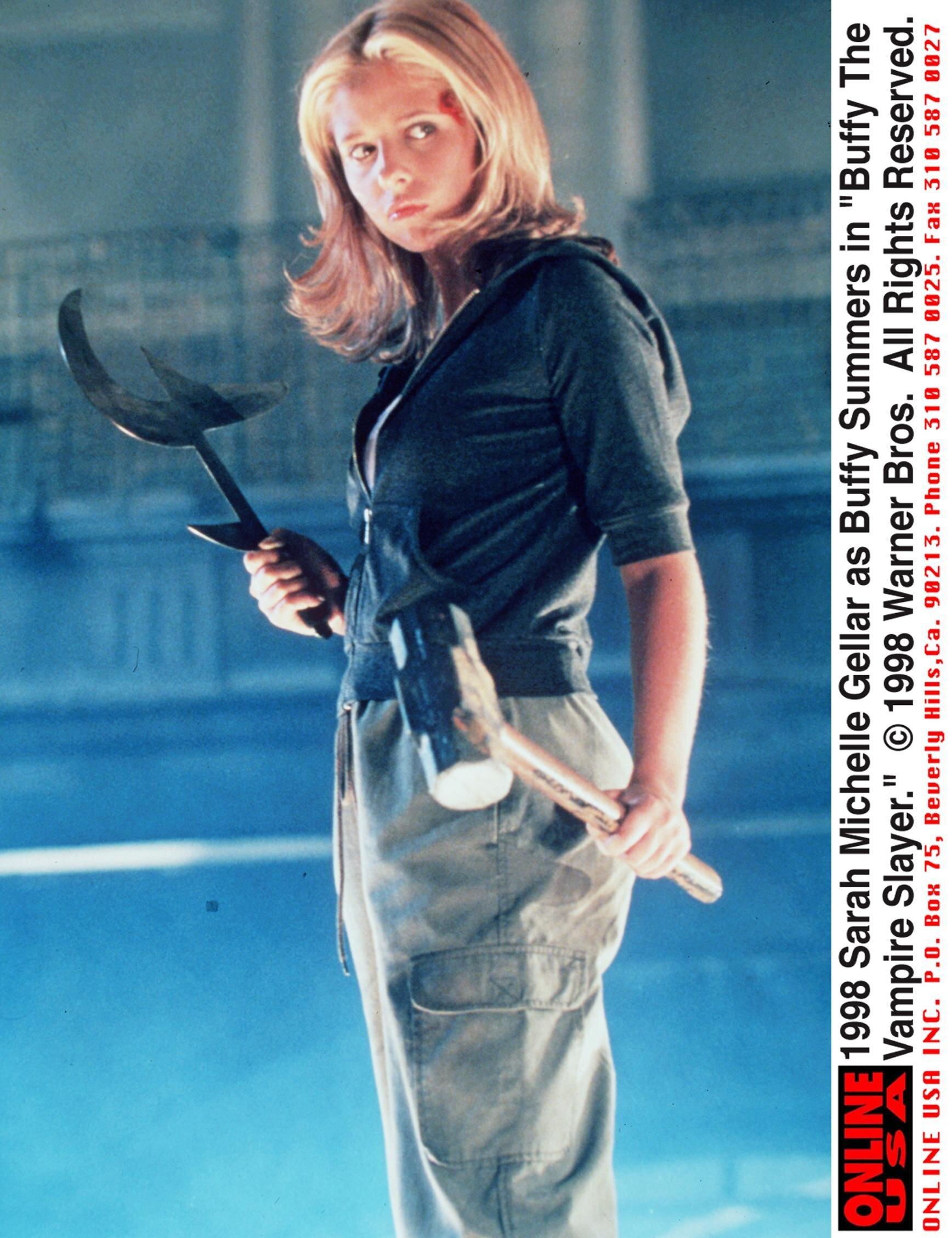 "Sarah Michelle Gellar in the Season 3 premiere of ""Buffy the Vampire Slayer."""
