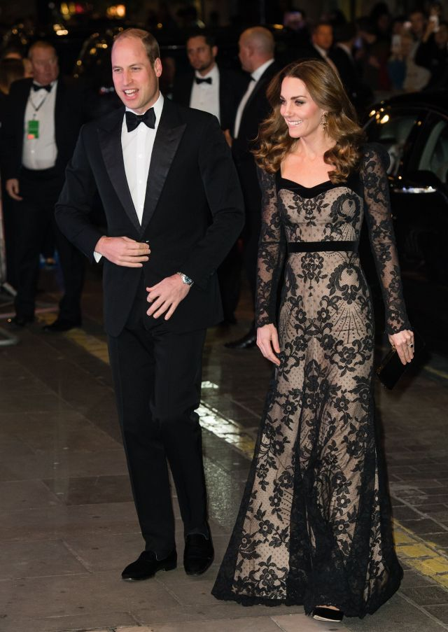 The Duke and Duchess of Cambridge attend the Royal Variety Performance on Nov. 18 in London.