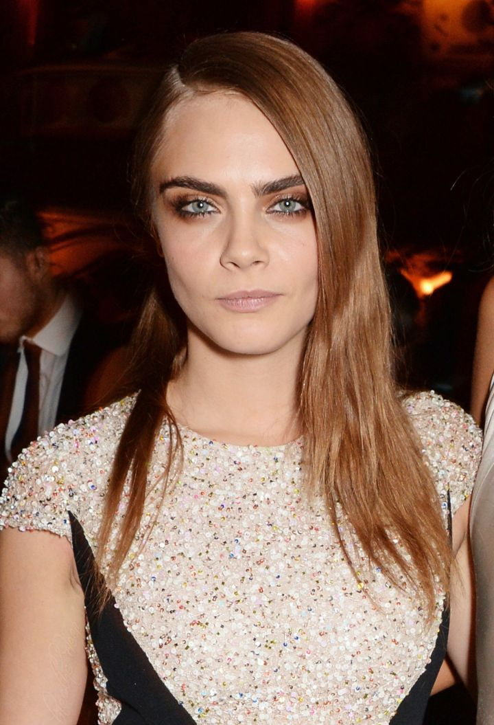 Cara Delevingne at the British Fashion Awards in London on 1st December 2014.