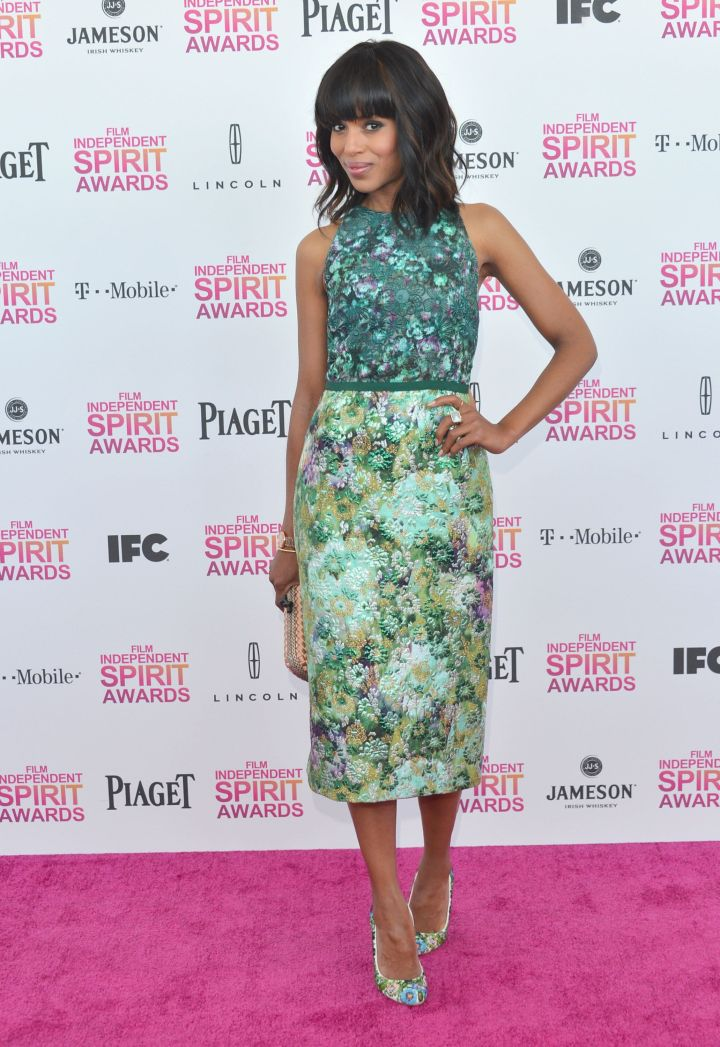 Kerry Washington at the Film Independent Spirit Awards in Santa Monica, California on February 23, 2013.