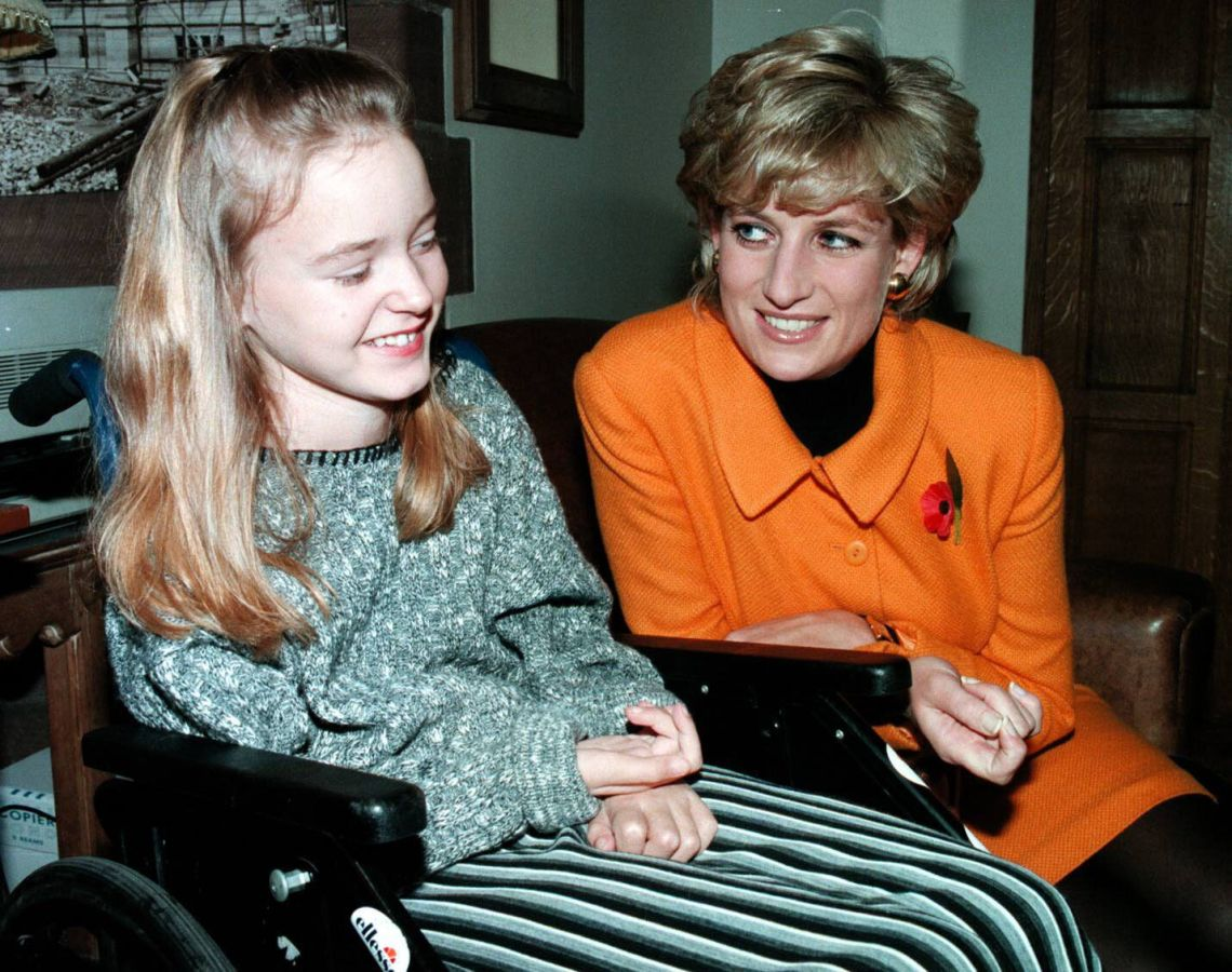 The Princess of Wales meeting Quinn when she was a child