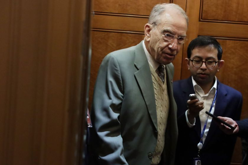 Sen. Chuck Grassley (R-Iowa) is one of the Senate leaders who has requested information about Hunter Biden from the Treasury