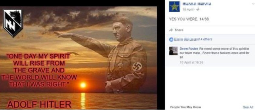 Andrew Foster commenting on a post about Adolf Hitler, saying
