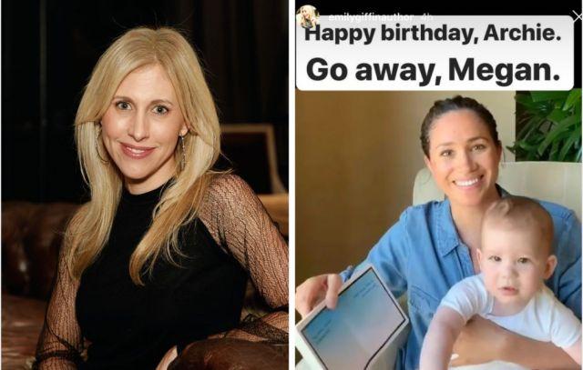 Novelist Emily Giffin (left) is not a fan of Meghan